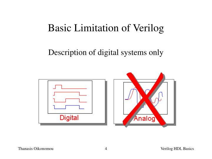 Description of digital systems only
