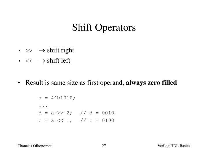 Shift Operators