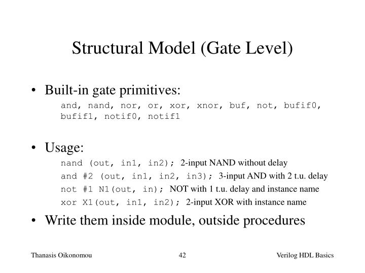 Structural Model (Gate Level)