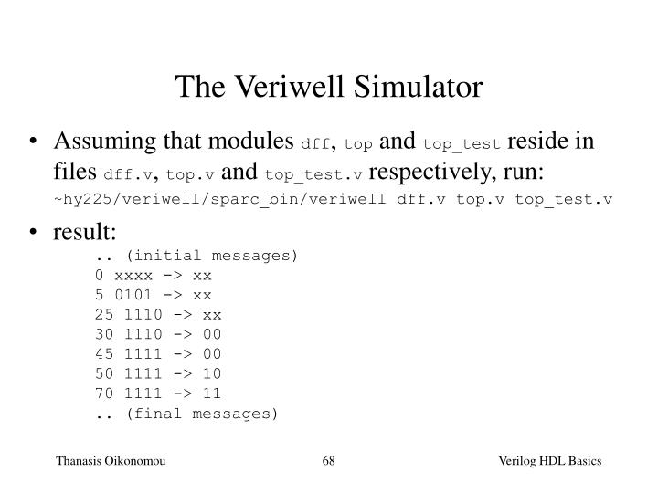 The Veriwell Simulator