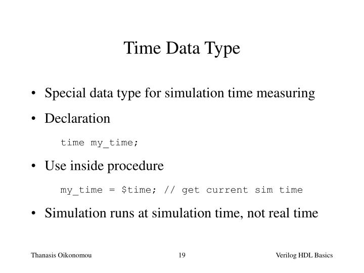 Time Data Type