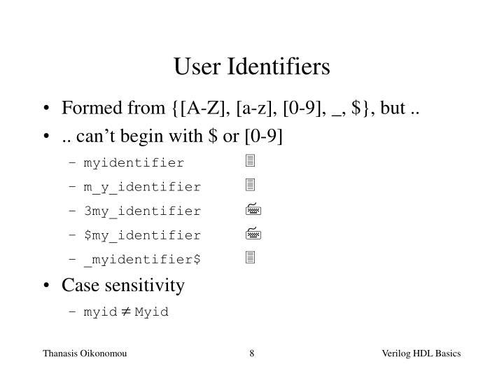 User Identifiers