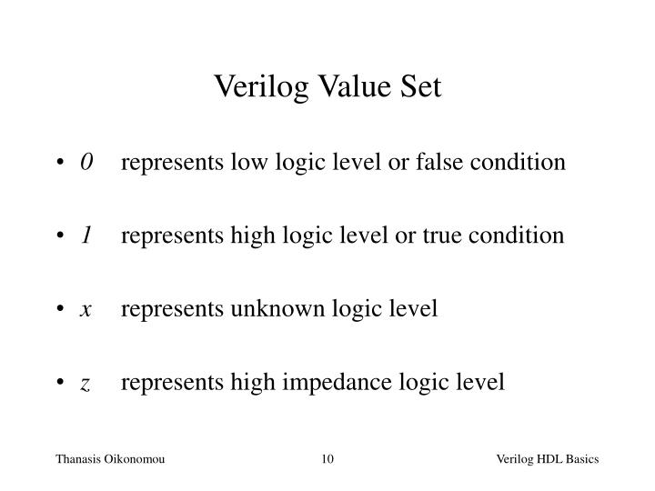 Verilog Value Set