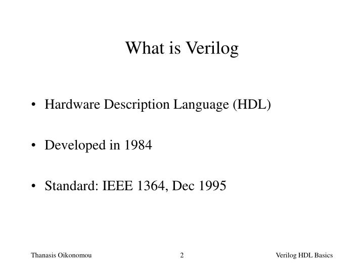 What is Verilog