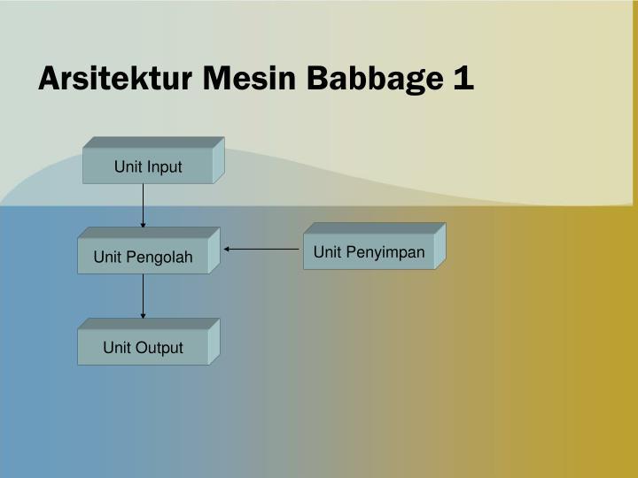 Arsitektur Mesin Babbage 1