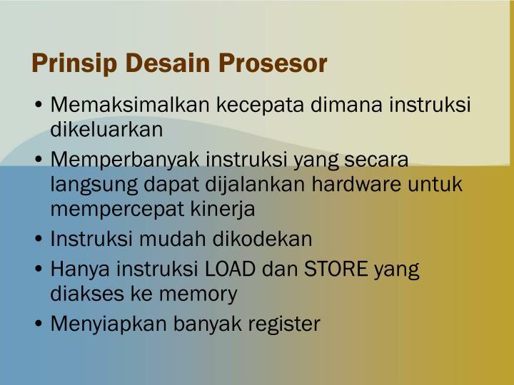 Prinsip Desain Prosesor