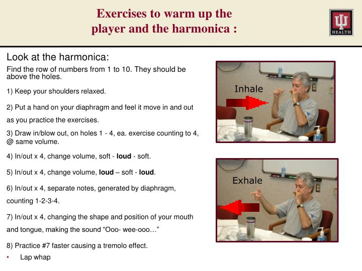 Exercises to warm up the