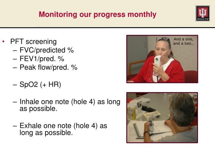 Monitoring our progress monthly