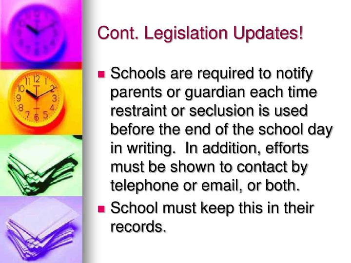 Cont. Legislation Updates!