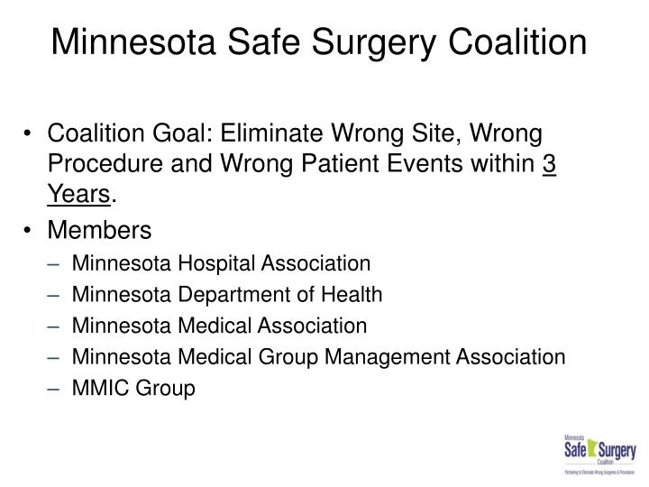Minnesota safe surgery coalition