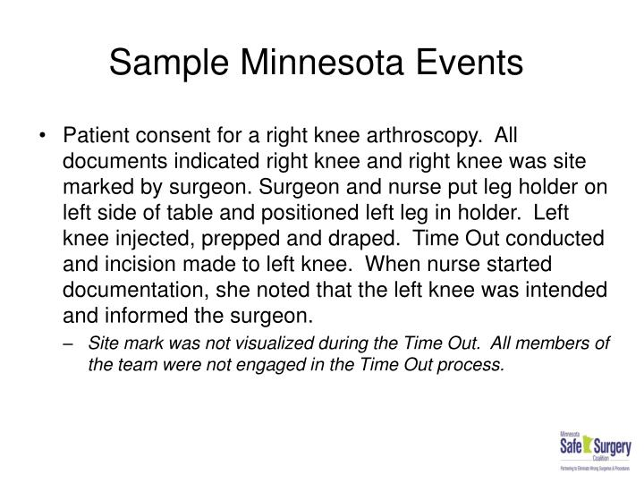 Sample Minnesota Events