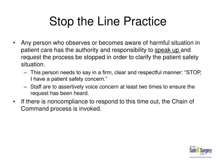 Stop the Line Practice
