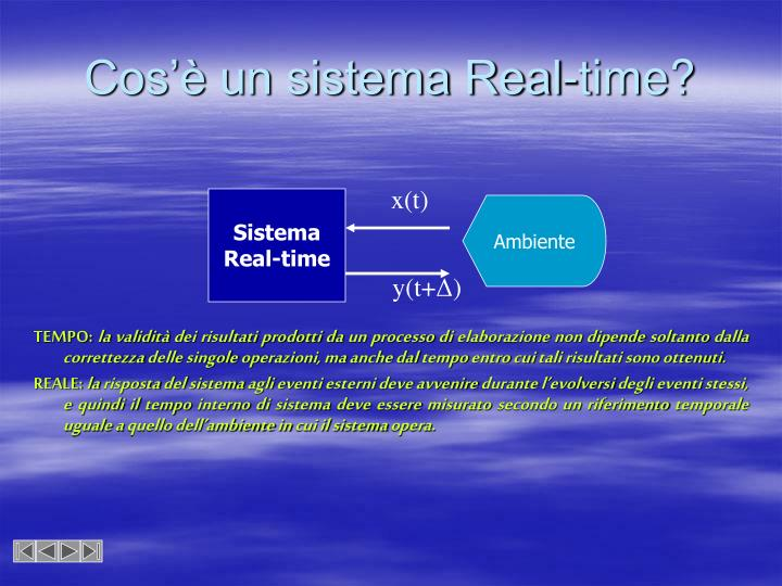 Cos'è un sistema Real-time?
