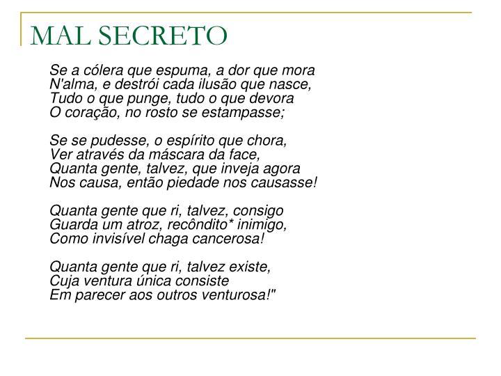 MAL SECRETO