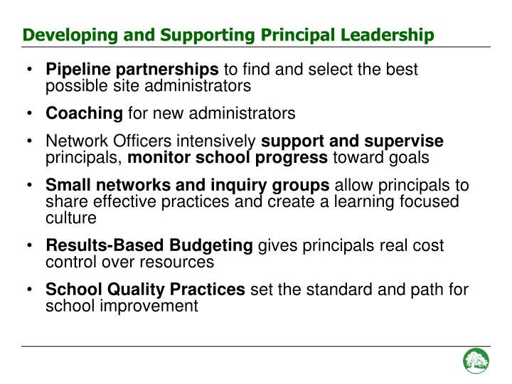 Developing and Supporting Principal Leadership