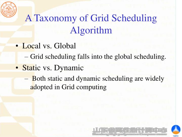 A Taxonomy of Grid Scheduling Algorithm