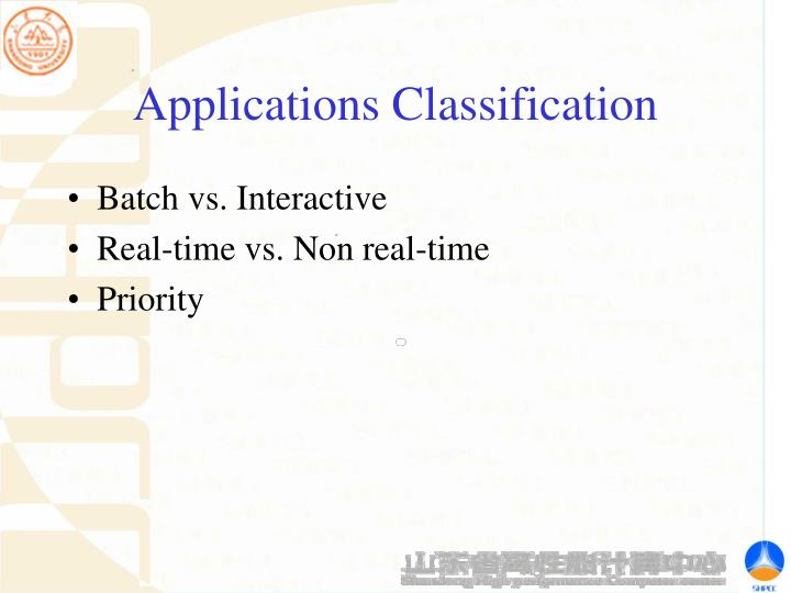 Applications Classification