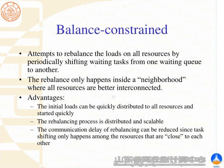 Balance-constrained