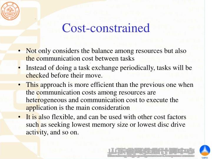 Cost-constrained
