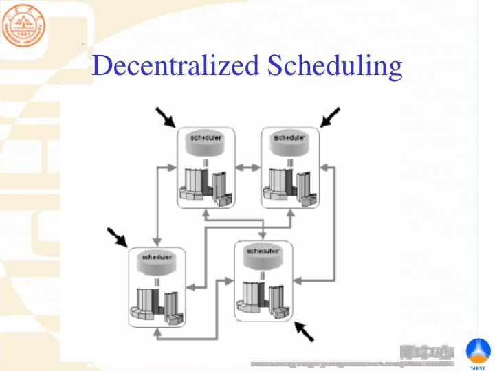Decentralized Scheduling