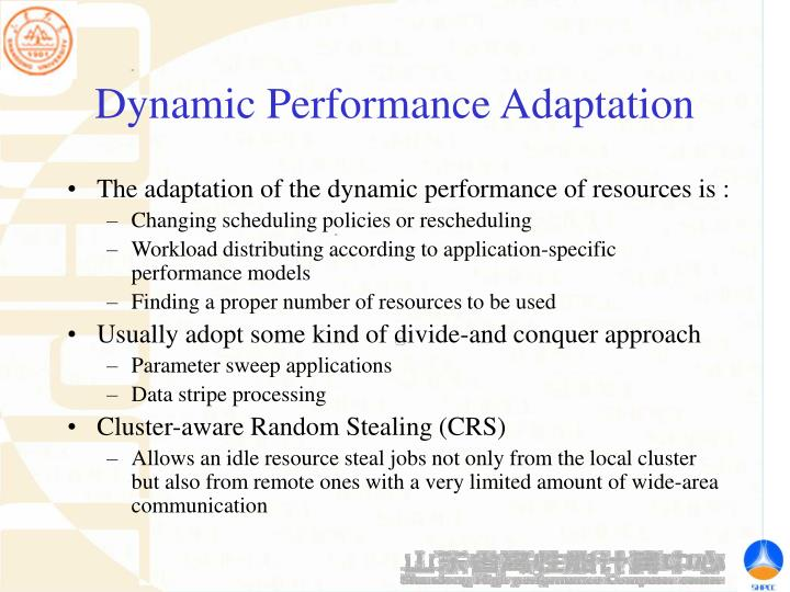 Dynamic Performance Adaptation
