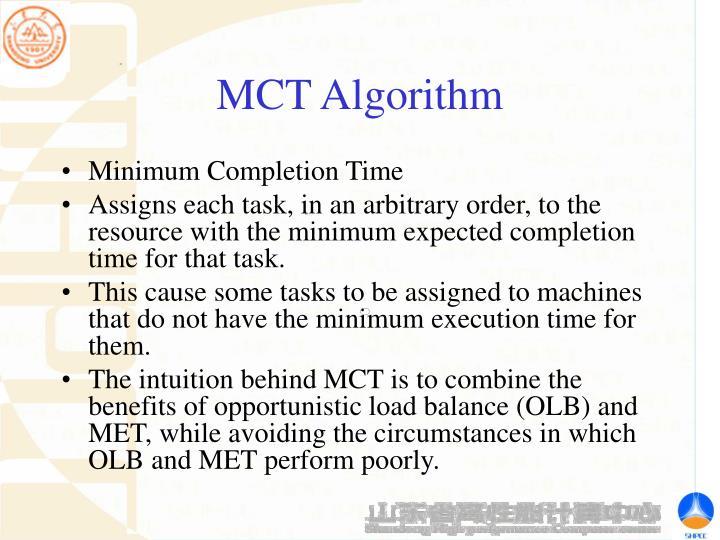 MCT Algorithm