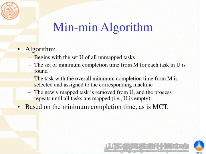 Min-min Algorithm