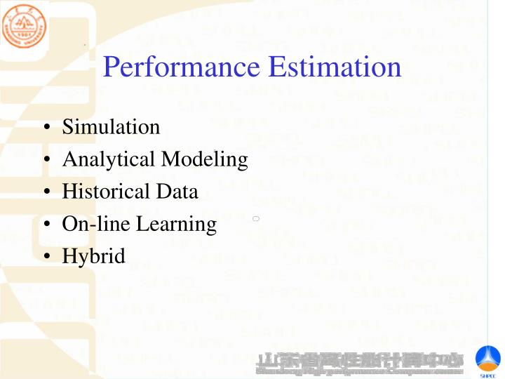 Performance Estimation