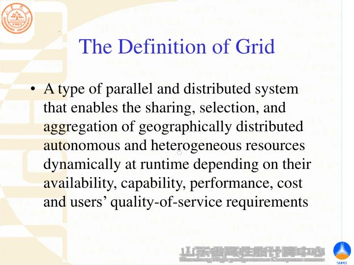 The Definition of Grid