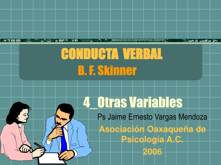 CONDUCTA  VERBAL