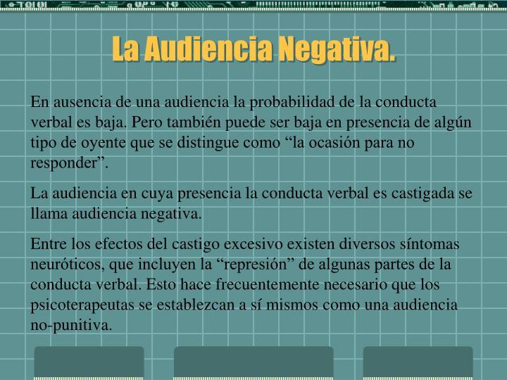 La Audiencia Negativa.