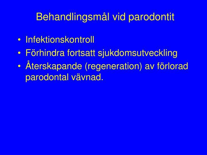 Behandlingsmål vid parodontit