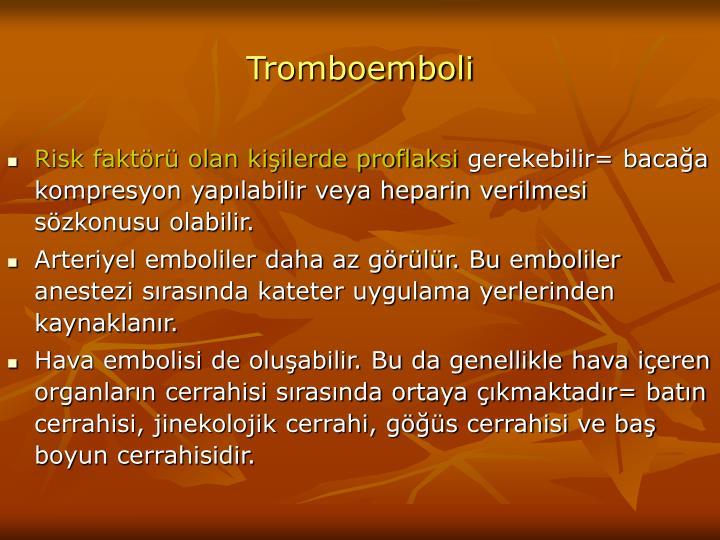 Tromboemboli