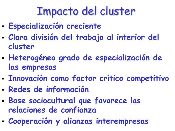 Impacto del cluster