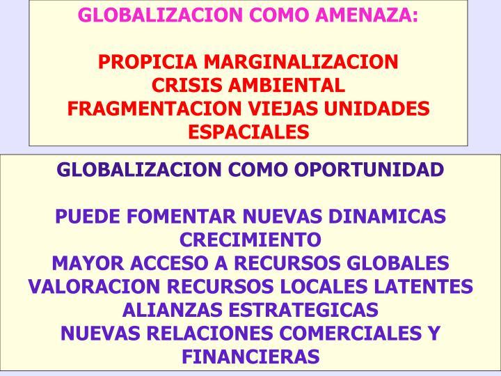 GLOBALIZACION COMO AMENAZA: