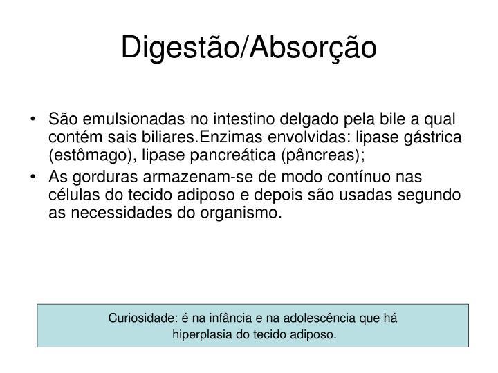 Digestão/Absorção