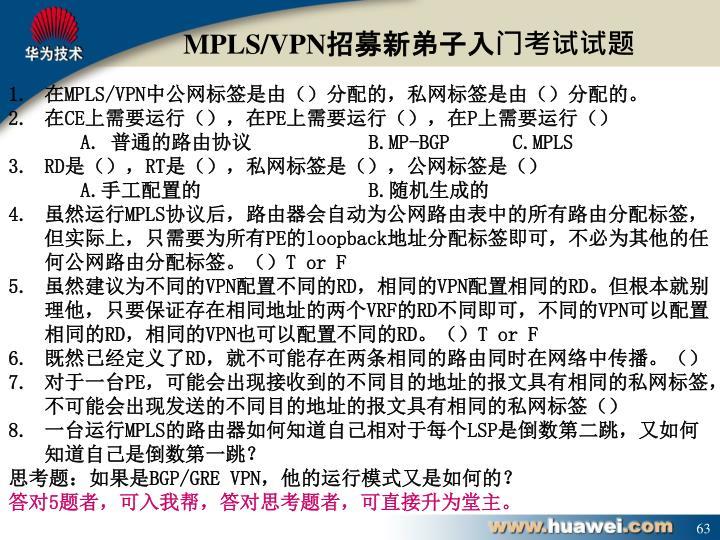 MPLS/VPN