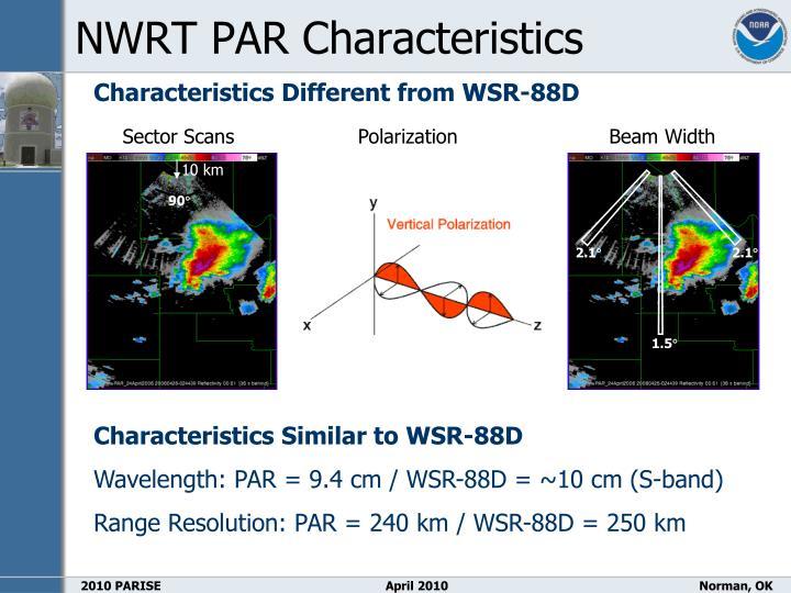 NWRT PAR Characteristics