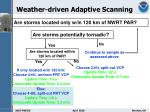 weather driven adaptive scanning1
