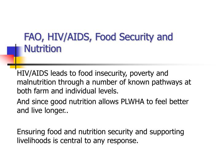 FAO, HIV/AIDS, Food Security and Nutrition