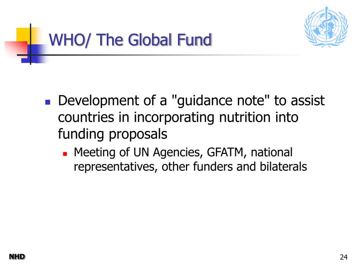WHO/ The Global Fund