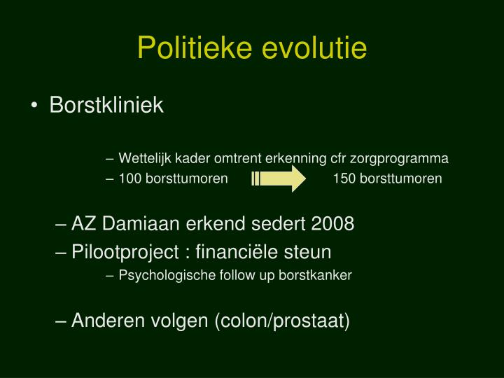 Politieke evolutie