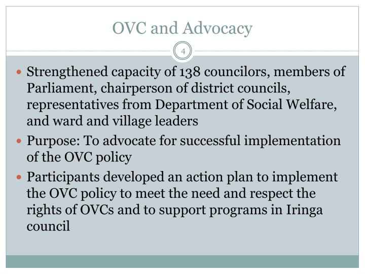 OVC and Advocacy