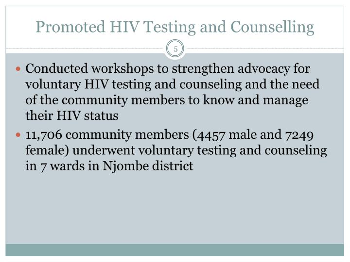 Promoted HIV Testing and