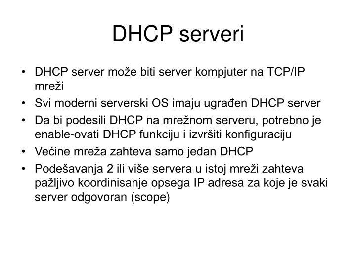 DHCP serveri