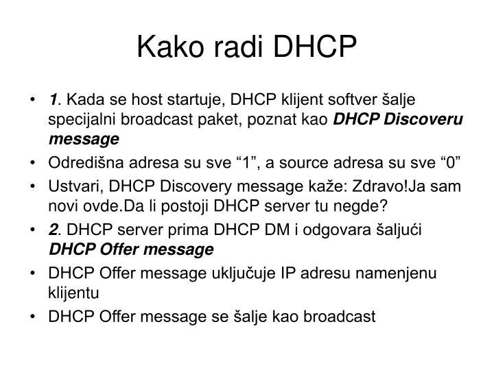 Kako radi DHCP
