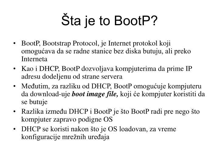 Šta je to BootP?