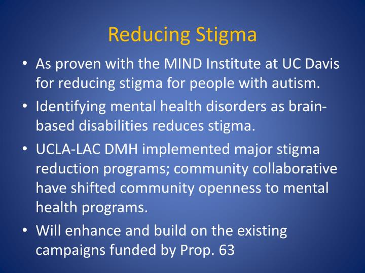 Reducing Stigma