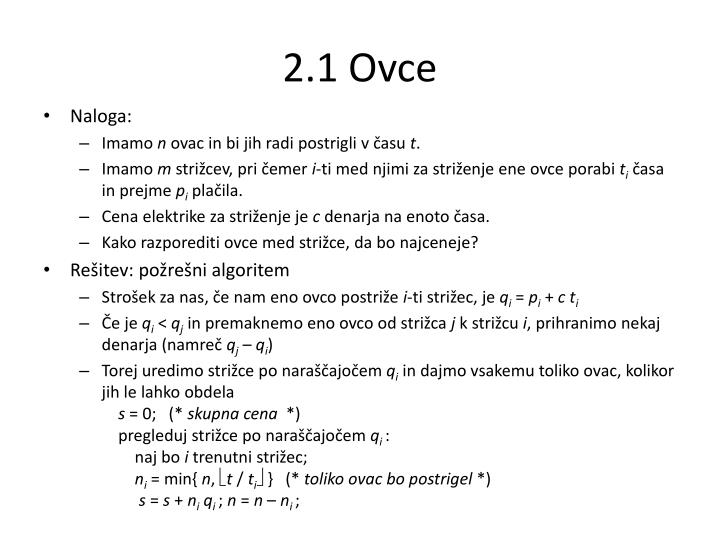 2.1 Ovce