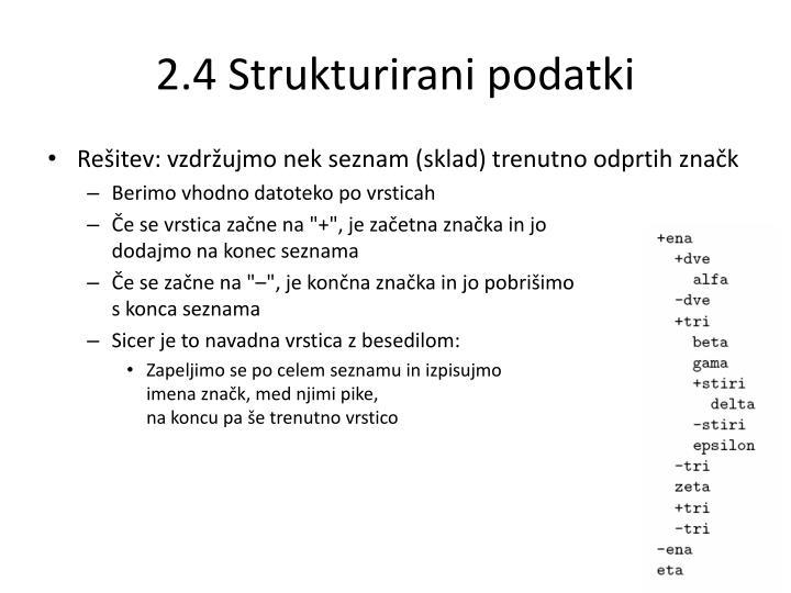2.4 Strukturirani podatki